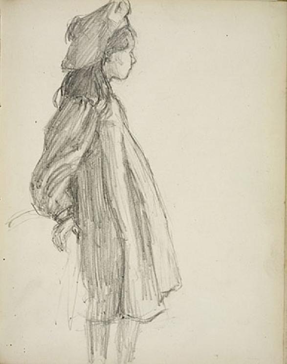 St.Ives Sketchbook (graphite on paper) 1901-02, Emily Carr