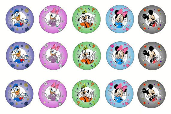 15-1 Mickey and Friends Bottle Cap by TheWeaversWorkshop on Etsy