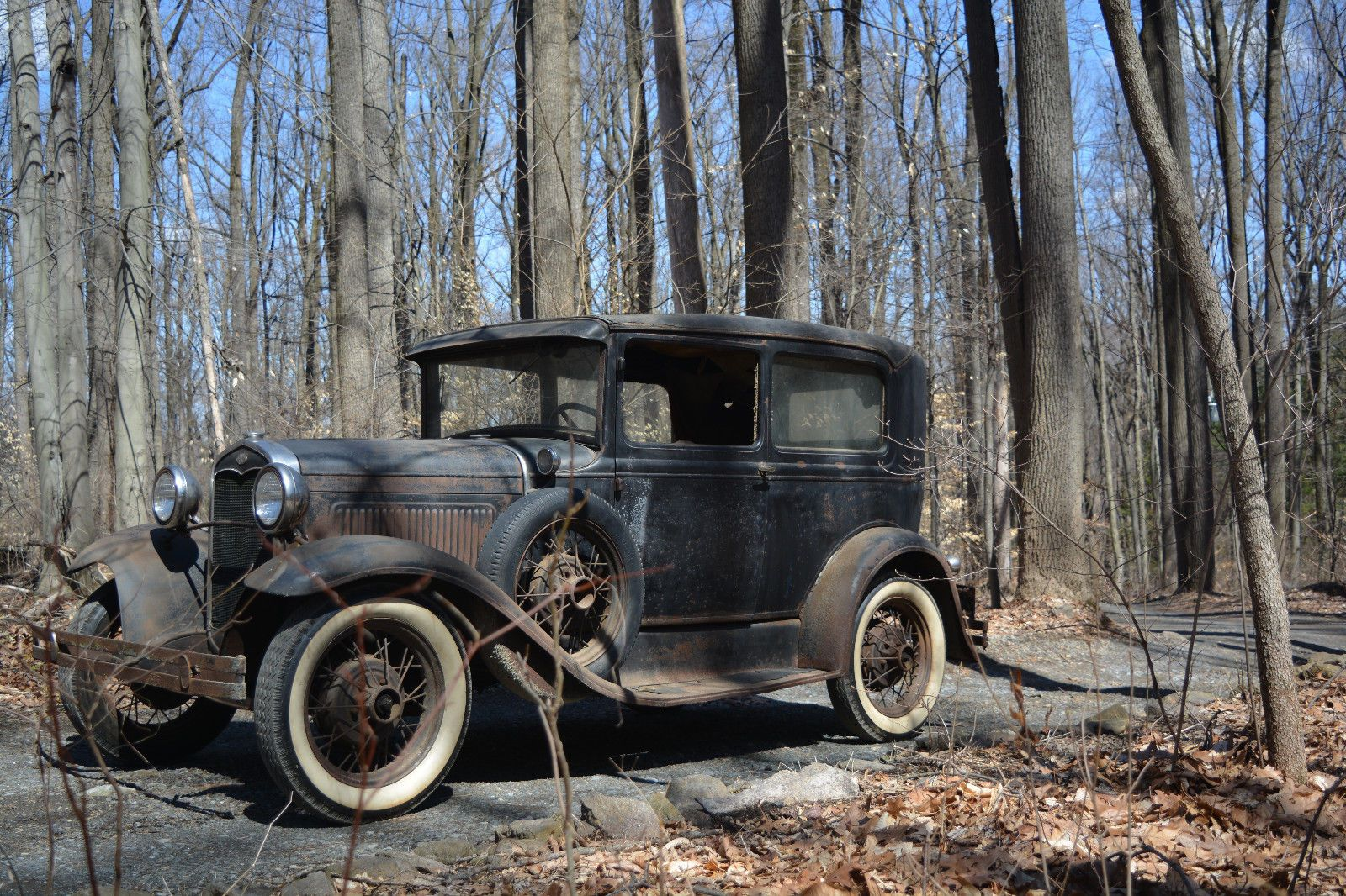 Barn find 1931 Ford Model A project been sitting for 60 years ...