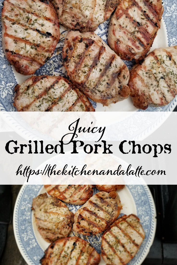 Grilled pork chops should be juicy, not dried out.  Here are the easy steps to making the perfect pork chops on a gas grill! #grilledporkchops #BBQrecipes #BBQ #grillrecipes #grilledporkchops