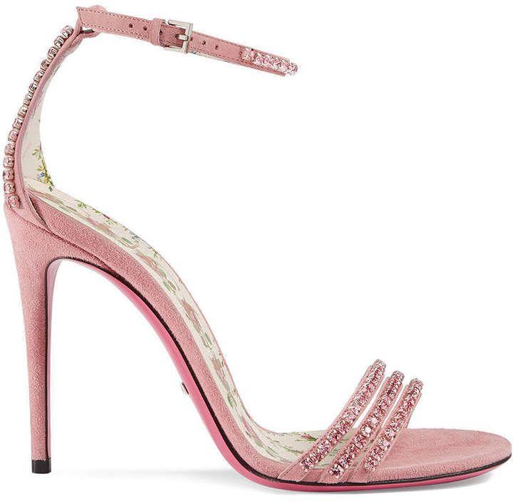 c9a9ea94007 Gucci crystal embellished sandals