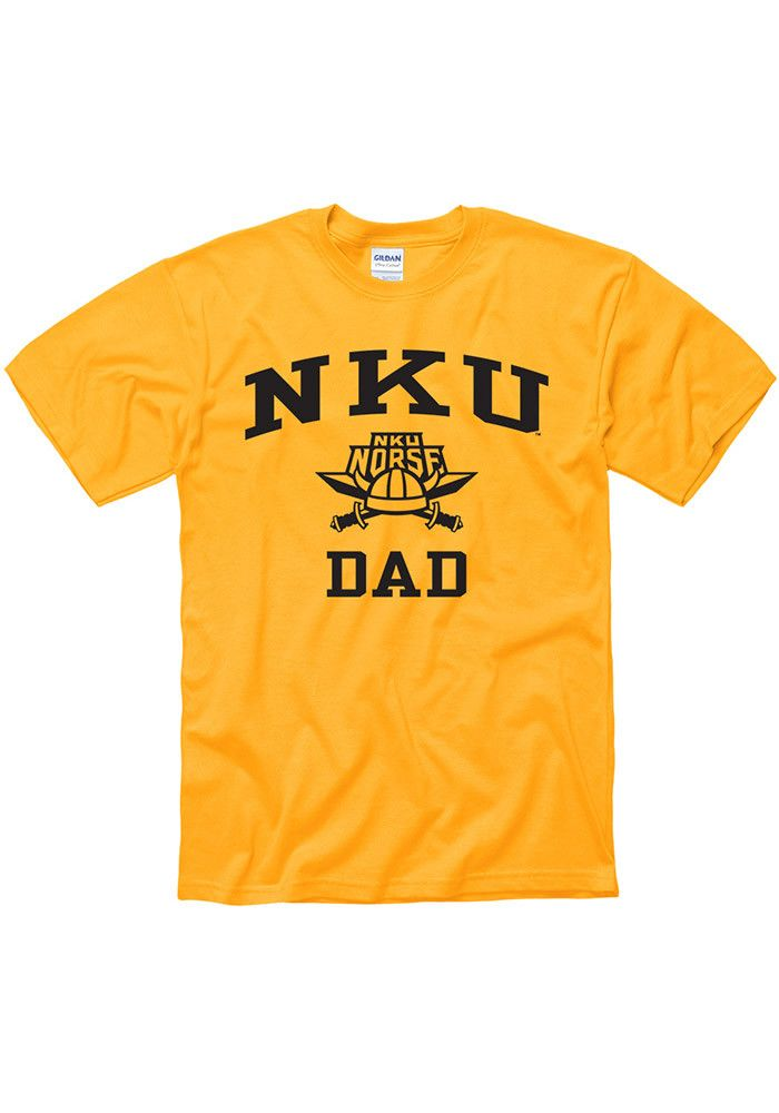 pretty nice 75f68 6c4ae Northern Kentucky Norse Gold Dad Short Sleeve T Shirt, Gold ...