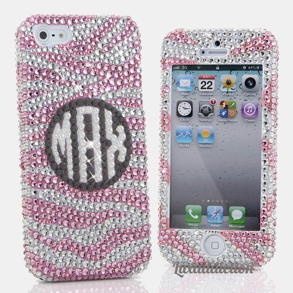 Bling phone cases handmade crystallized cases for mobile