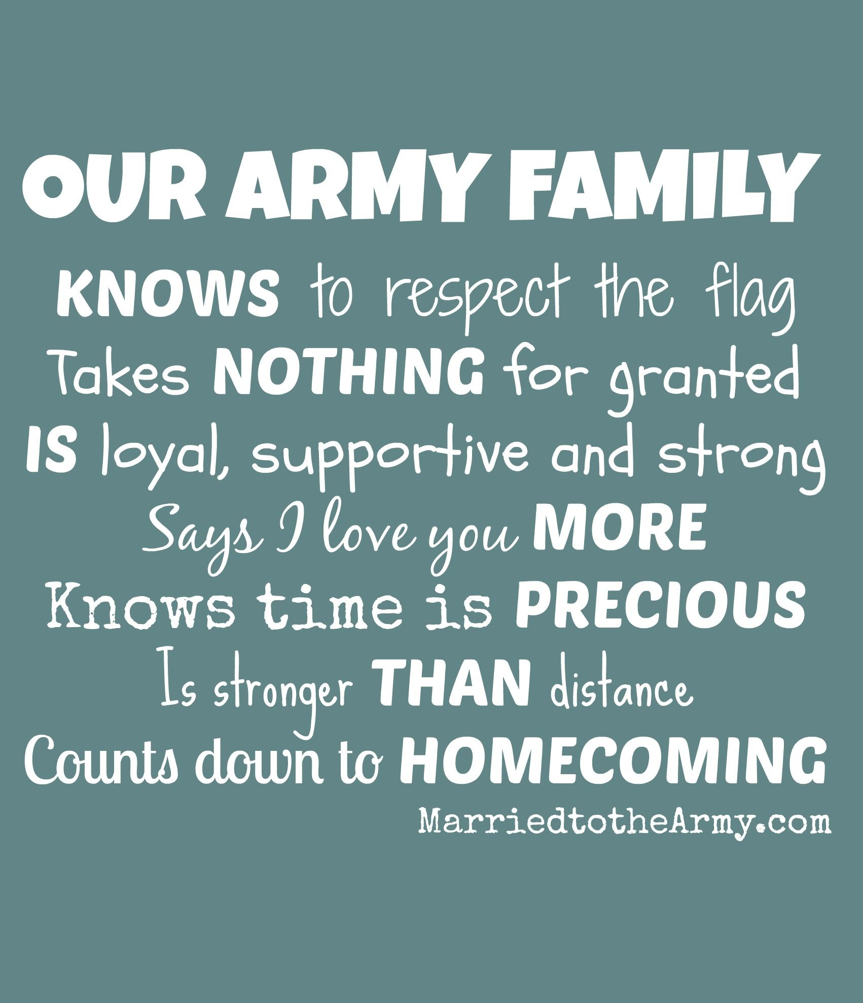 Our Army Family Knows Nothing Is More Precious Than Home ing