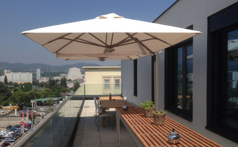 largo der largo ist ein freiarm sonnenschirm mit exklusiver ausstrahlung besonders geeignet f r. Black Bedroom Furniture Sets. Home Design Ideas