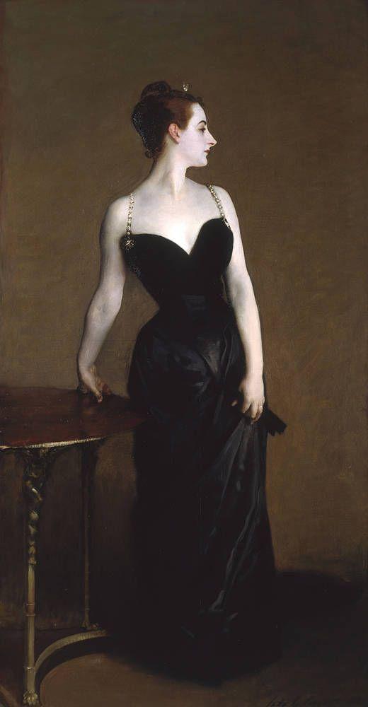beautiful lighting John Singer Sargent (American, 1856-1925). Madame X (Madame Pierre Gautreau) (1883-84).