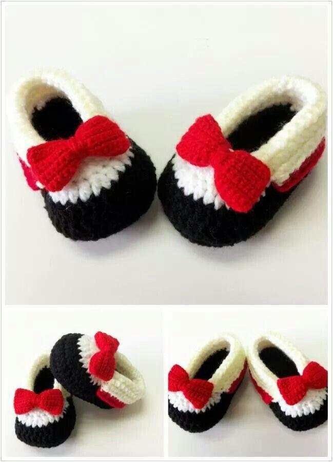 Zapatitos a crochet para bebés | Zapatos de Bebés | Pinterest | Para ...
