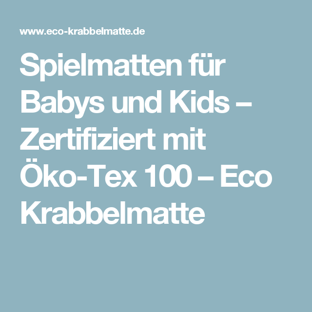 kinder und baby spielmatten eco krabbel und spielmatten pinterest ko spielmatte und eco. Black Bedroom Furniture Sets. Home Design Ideas