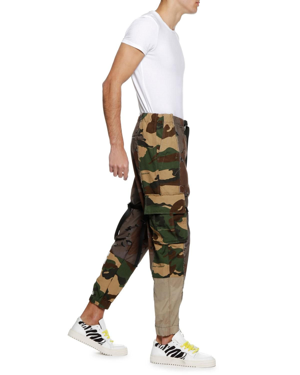 11f00ef16a06 Off-White Men s Reconstructed Camo-Print Cargo Pants in 2019 ...