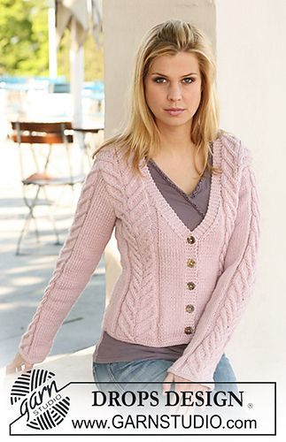 123-9 Knitted Jacket with Cables in \