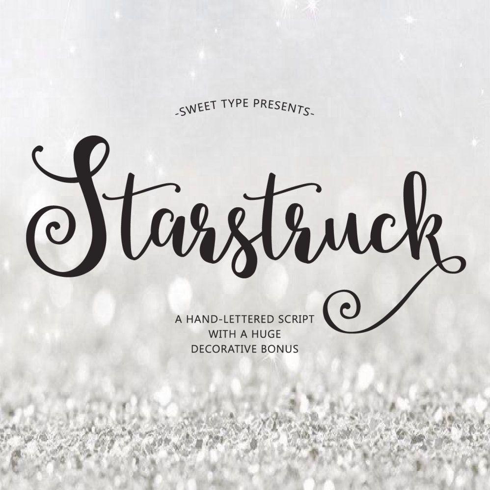 Starstruck Hand Lettered Font Download