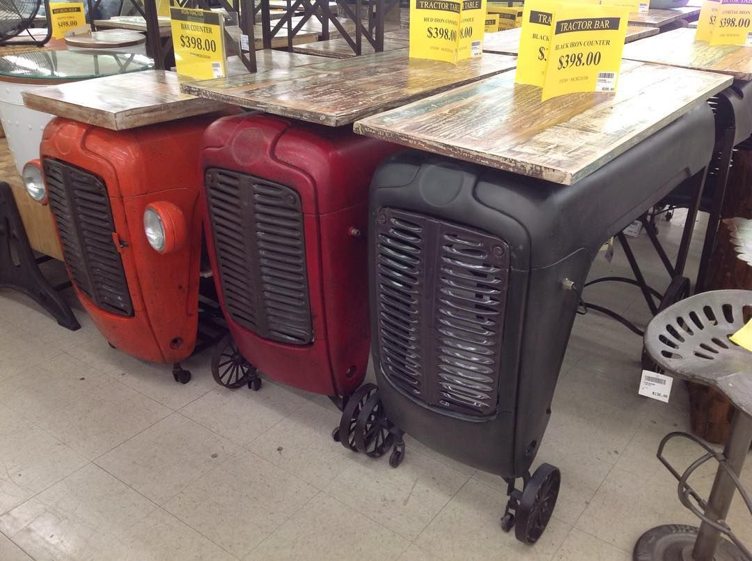 Console Tables Made From Genuine Tractor Grills