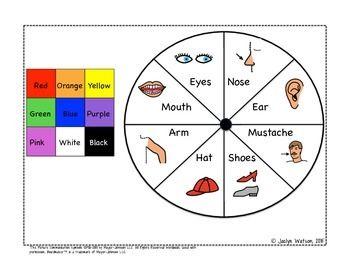 Mr Potato Head Describing Freebie Slp Activities Vocabulary Development Speech Games