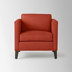 More Orange Chairs From West Elm. Dunham Down Filled Armchair   Boxed  (Solids