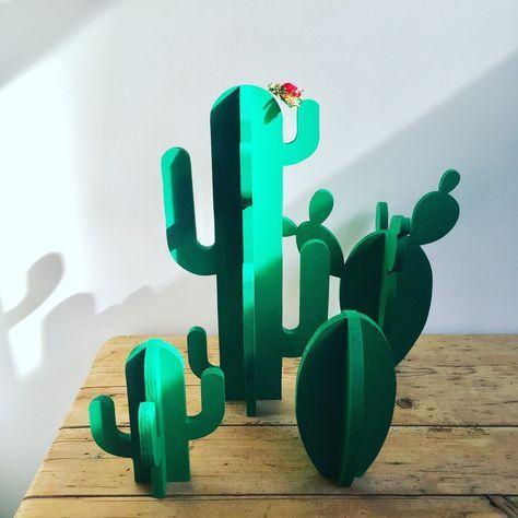 Cactus - objet de déco - porte-bijoux  Accessoires de maison par