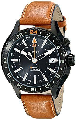 56f838edabd Timex Men s T2P427DH Intelligent Quartz 3-GMT Analog Display Analog Quartz  Brown Watch