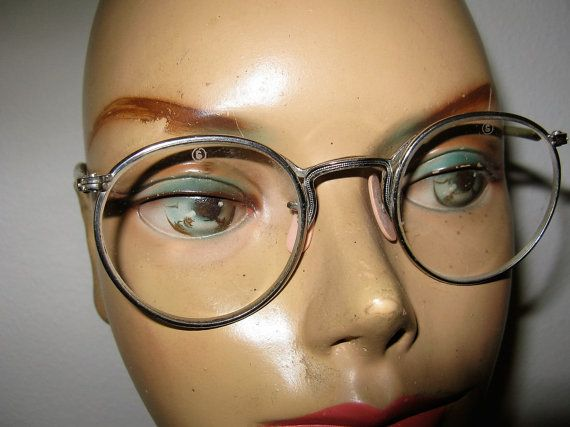 1940's Steel Frame  Steam Punk Eyeglass Frames by TheInstantMemory