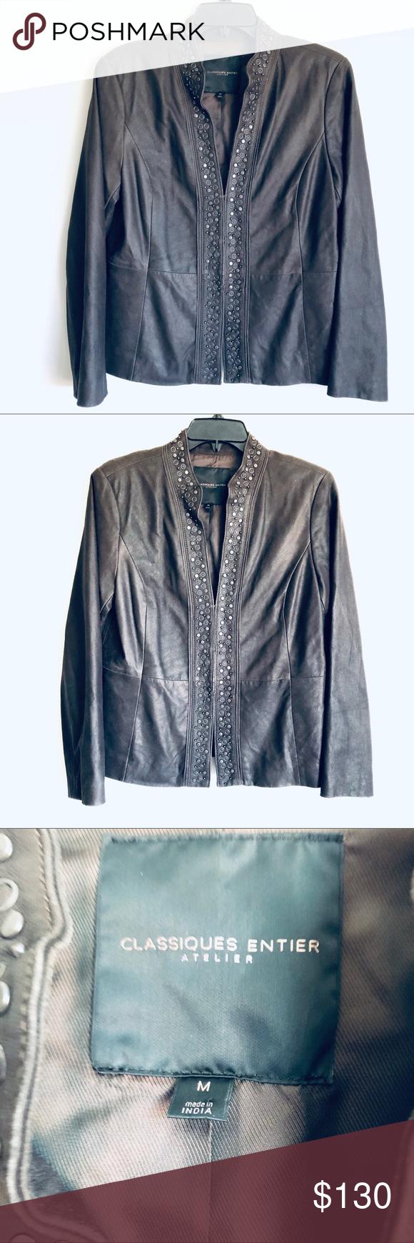 Classiques Entier Atelier Leather Jacket Studded Leather Jacket Studded Jacket Leather Jacket