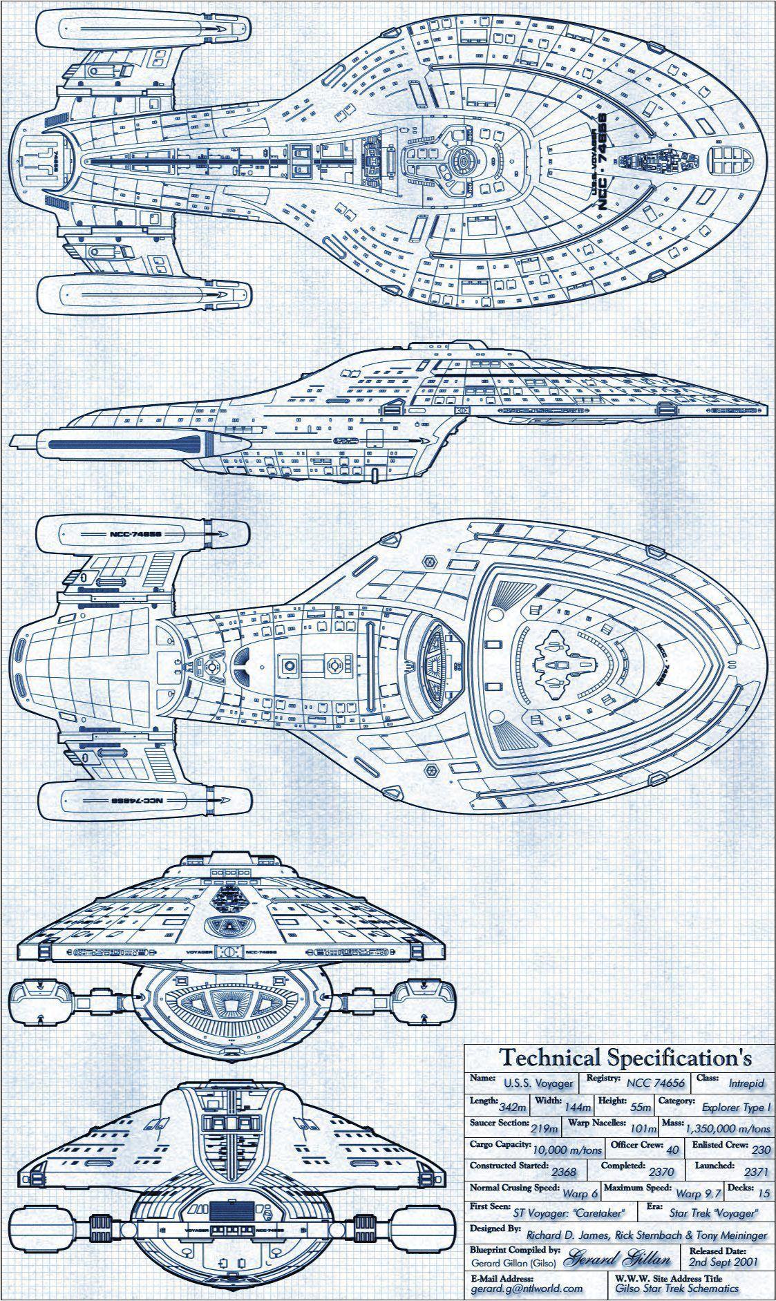 janetfraiser  schematics for the u s s  voyager  source