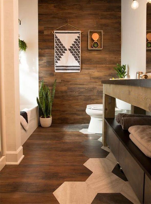 Piso vin lico na parede e lin leo hexagonal cozinha - Vinilico para paredes ...