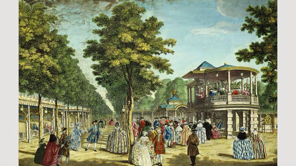 Vauxhall Gardens, London (1751) | Vauxhall Gardens London | Pinterest