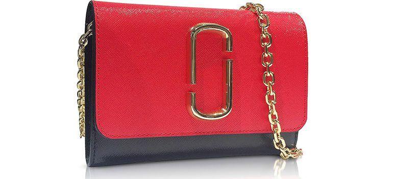 d3de10922ac9 Marc Jacobs Poppy Red Snapshot Chain Wallet Clutch