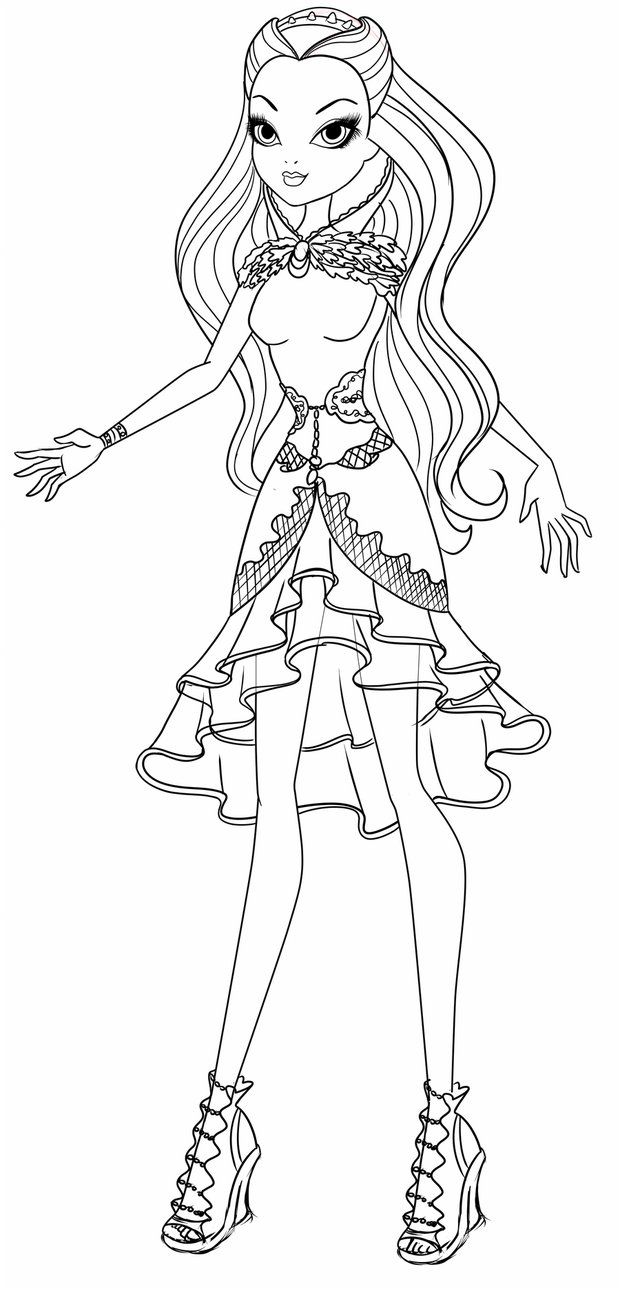164522 ever after high madeline hatter coloring pages ever for Madeline coloring pages printable
