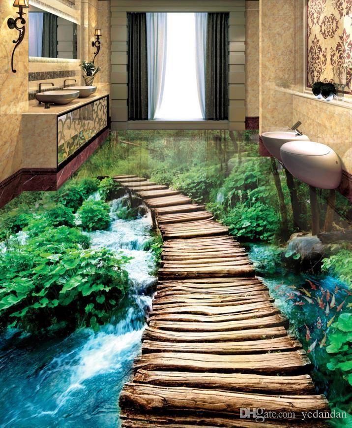 Amazing 3D Floor Mural For Living Room, Bathroom & Bedroom
