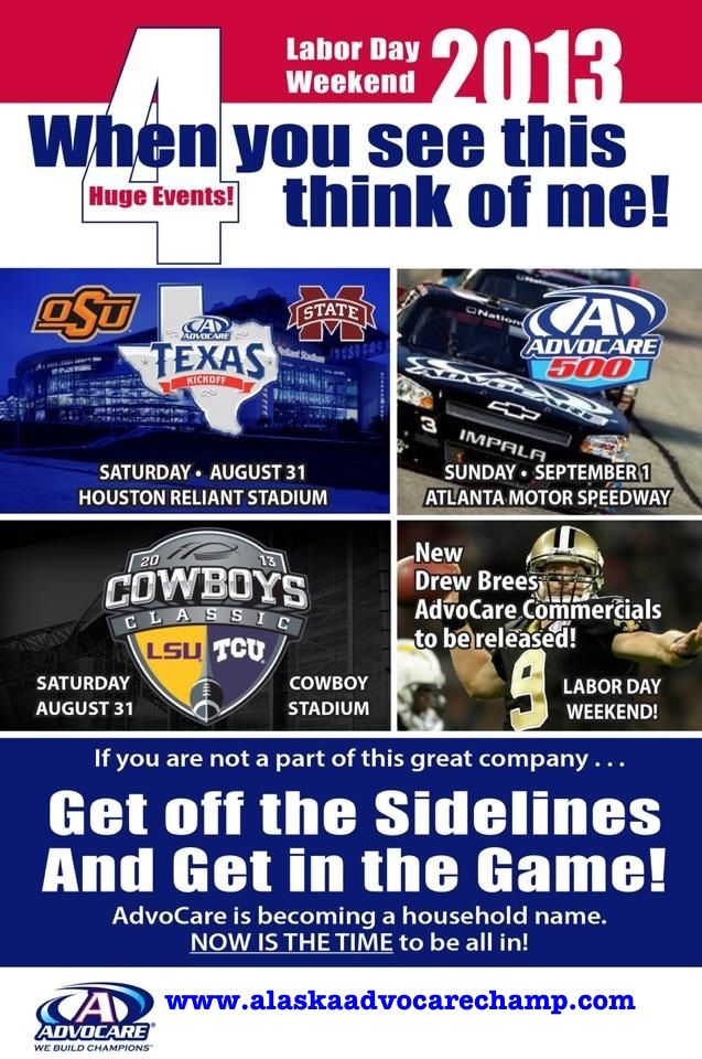 """When you see the Advocare logo & commercials and you or your friends ask """"what is Advocare"""" you can say """"My friend is a distributor and is doing very well with it""""  Send them our way ;-)"""