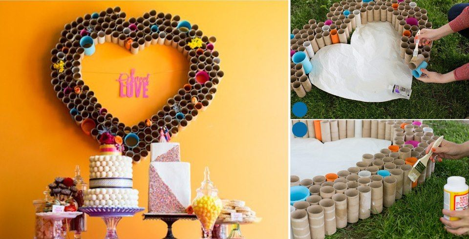 DIY Toilet Paper Roll Heart Art | TP Roll Crafts | Pinterest ...