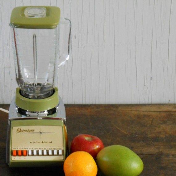 Vintage Avocado Green Osterizer Blender