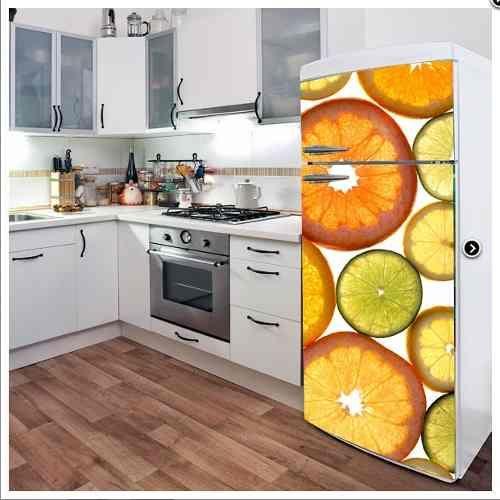 Vinilos decorativos cocina heladera personalizados deco - Cocinas con vinilo ...