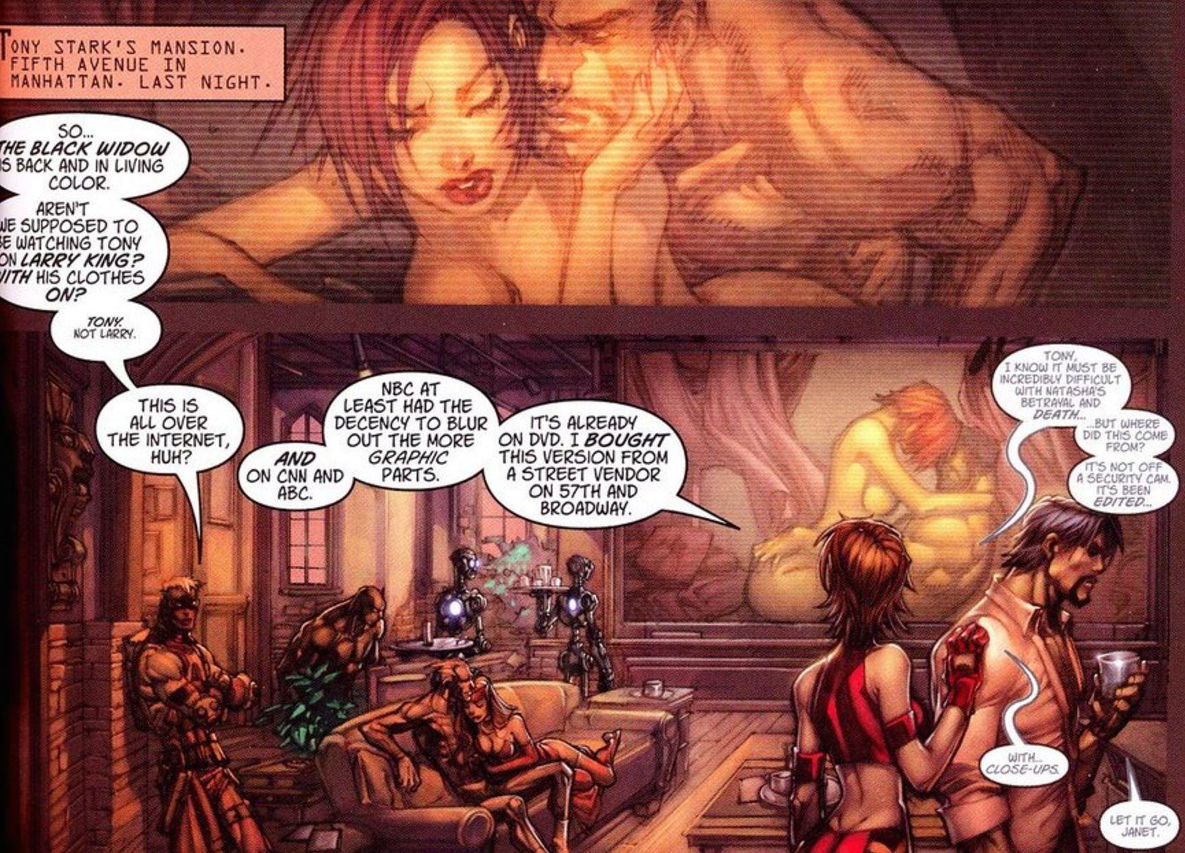 sex comic Black widow marvel