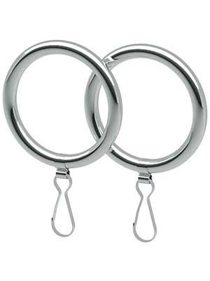 Solid-Brass Round Shower Curtain Rings - Set of 2 | Shower curtain ...