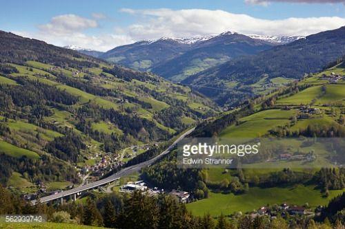 A10 Tauern Autobahn motorway, Liesertal valley, at Eisentratten,... #eisentratten: A10 Tauern Autobahn motorway, Liesertal… #eisentratten