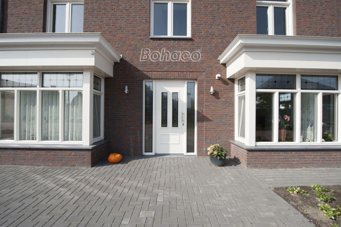 Plastic front door – White front door – plastic frames – w …