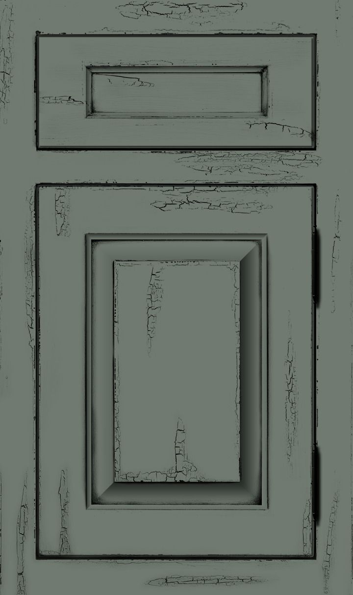 Lyons | Soft Pale Green Toned Custom Color Cabinet Door With Crackle Texture