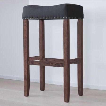 Fabulous Hylie Nailhead Wood Pub Height Kitchen Bar Stool 29 Inch Caraccident5 Cool Chair Designs And Ideas Caraccident5Info
