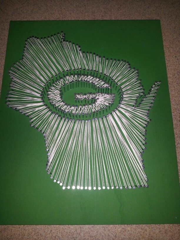 Greenbay Wisconsin Nail String Board I Took The