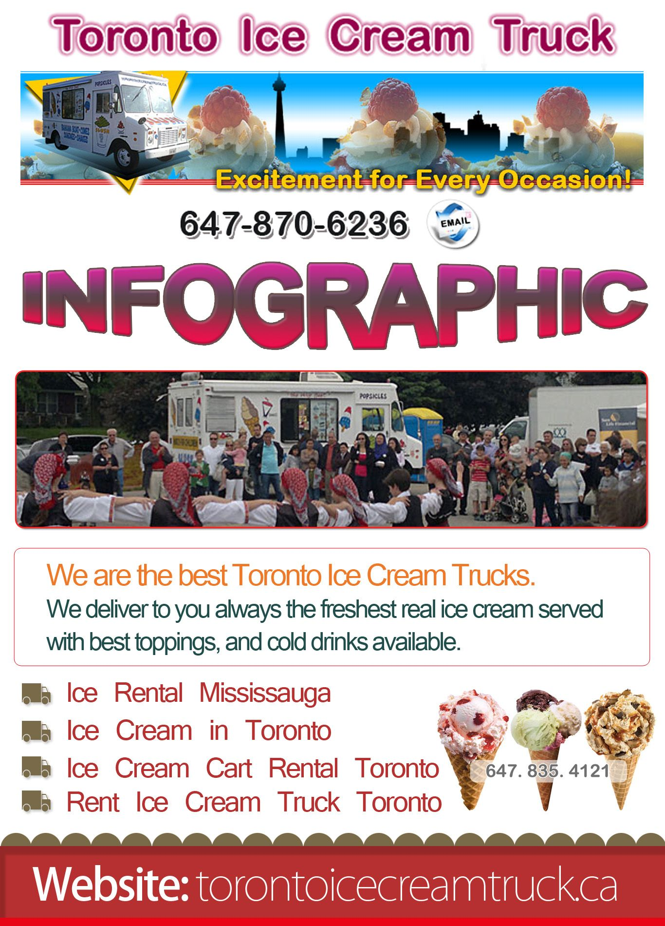 If you love the incredible taste of ice cream then hire