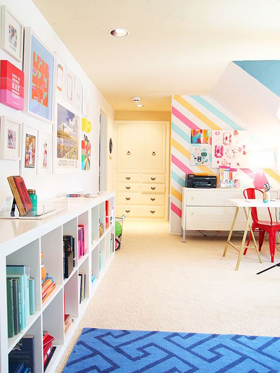 House Tour: Bright, Preppy Style | Washi tape, Washi and Walls