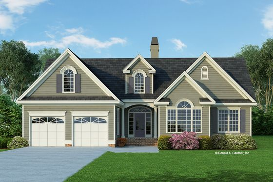 Traditional Style House Plan 3 Beds 2 Baths 1542 Sq Ft Plan 929 363 Ranch Style House Plans Craftsman Style House Plans House Plans