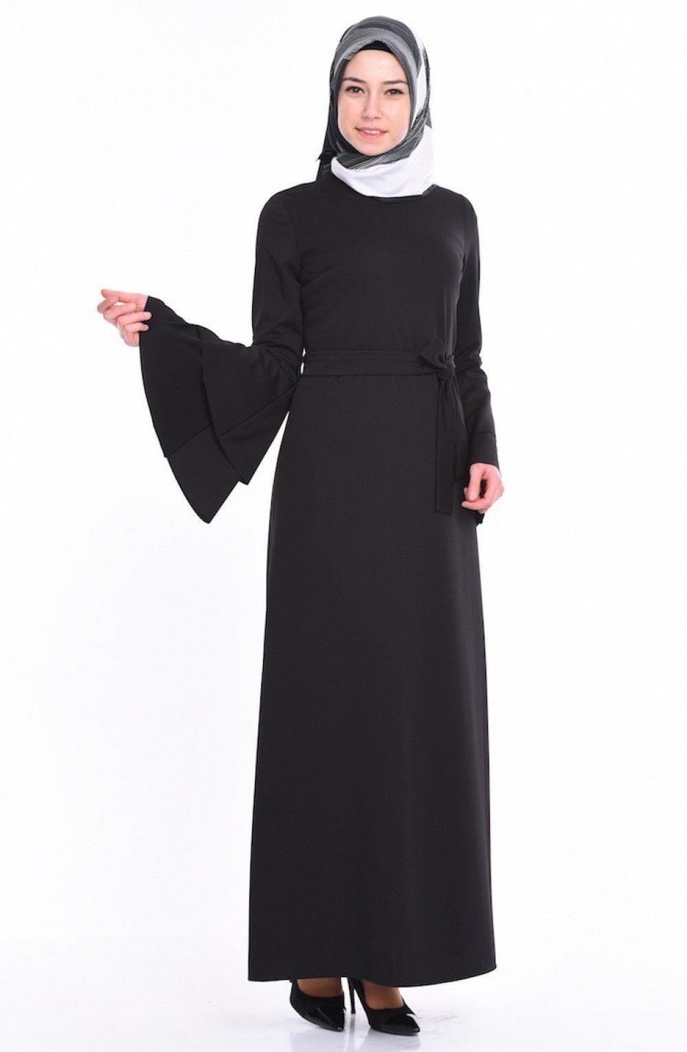 Sefamerve Genis Kol Tesettur Kalem Elbise Modelleri Moda Tesettur Giyim Elbise Modelleri Kalem Elbise Elbise