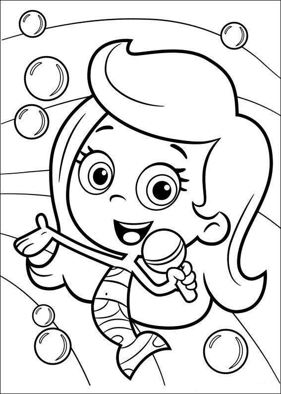 bubble guppies coloring page # 5