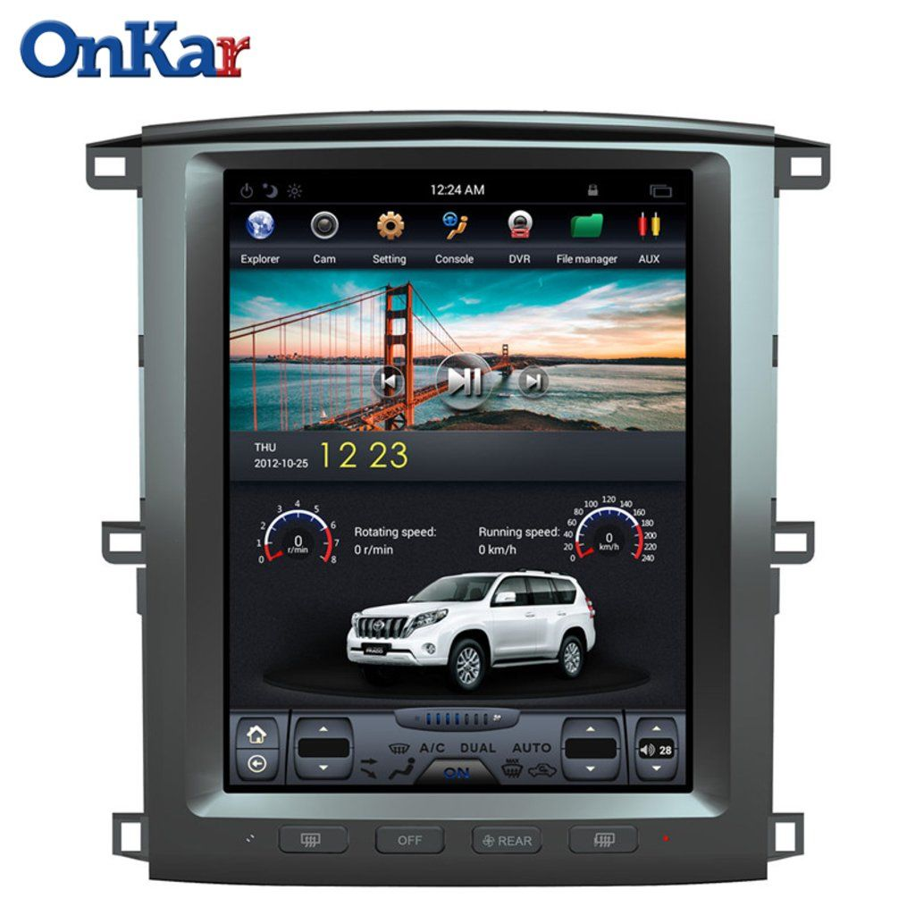 Lexus Lx470 Toyota Lc100 Tesla Style Android Gps Head Unit With 12 1 Inch Touchscreen