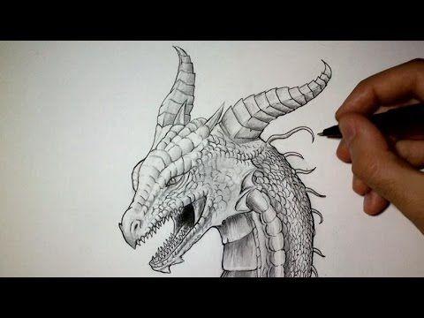 Comment dessiner une t te de dragon tutoriel dessin - Comment dessiner un dragon facile ...
