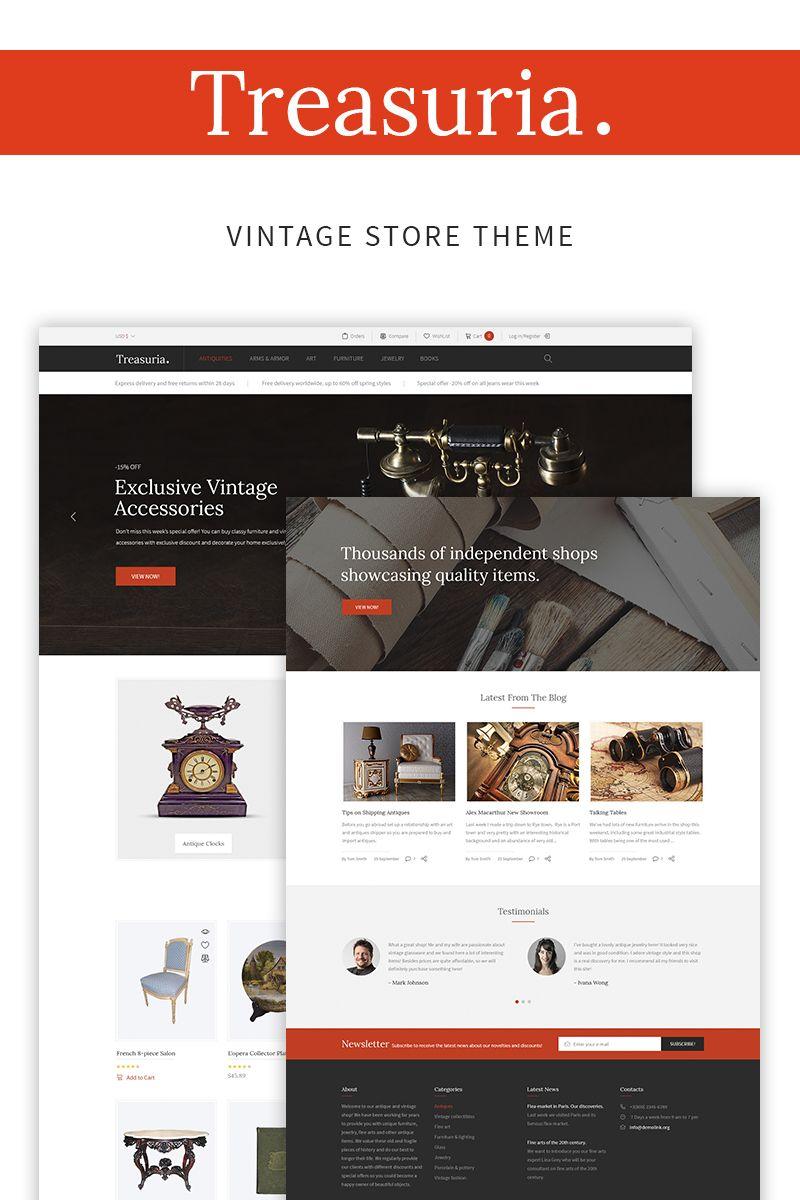 Treasuria Antique Vintage Woocommerce Theme 66075 Woocommerce Themes Website Template Design Woocommerce