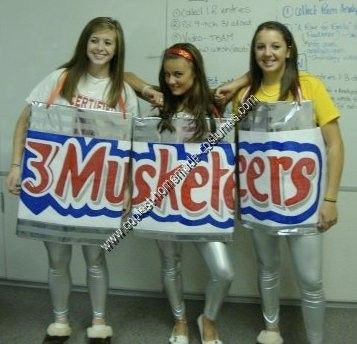 Coolest Homemade 3 Musketeers Group Costume | Homemade, Shiny ...