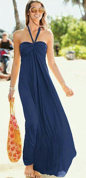 Beautiful blue maxi dress