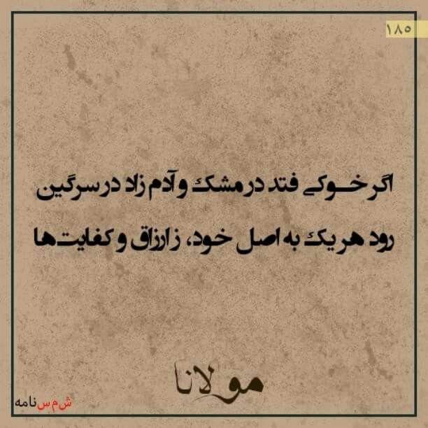 حضرت مولانا Persian Poem Persian Poetry Rumi Quotes